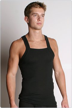 2xist Essential Square Cut Tank Top Black