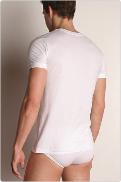 C-IN2 Core Crew Neck Pima Tee White