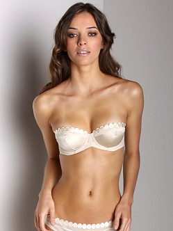 Stella McCartney Molly Humming Strapless Underwire Bra Cream