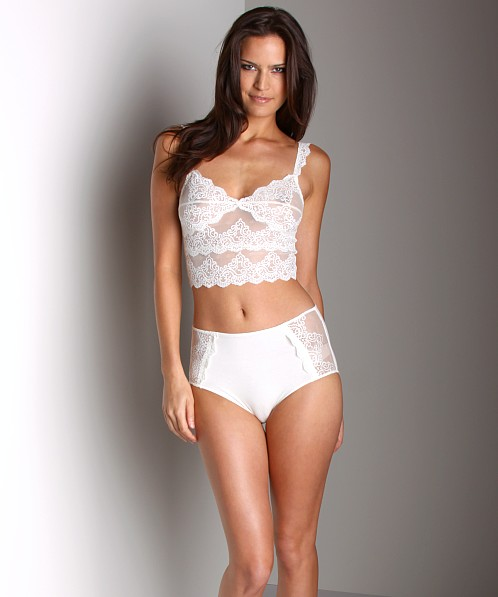 Only Hearts So Fine With Lace Crop Cami Bra Creme