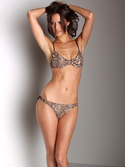 Only Hearts Lace Underwire Bra Leopard