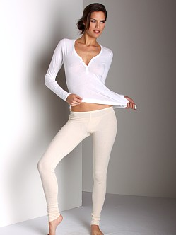 Only Hearts Pointelle Legging Parchment
