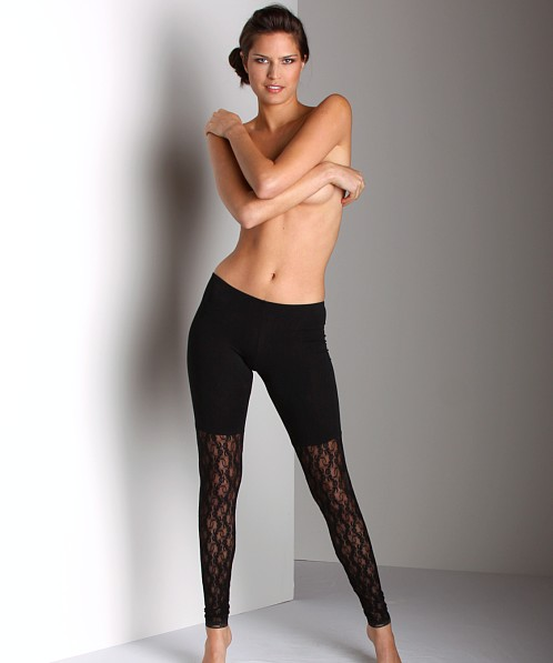 Only Hearts So Fine With Lace Legging Black