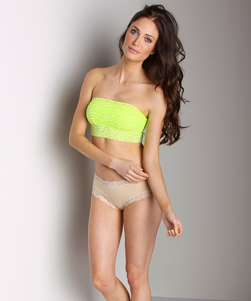 Free People Lace Bandeau Neon Yellow