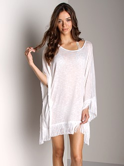 L Space Ava Beach Poncho White