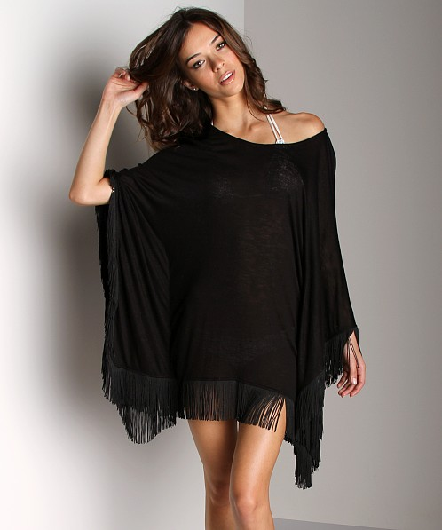 L Space Ava Beach Poncho Black