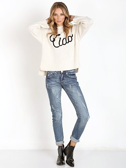 WILDFOX Ciao Bella Sweater Vintage Lace