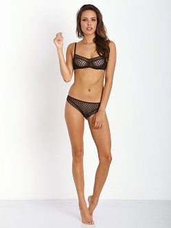 Huit A La Folie Triangle Underwire Bra Black