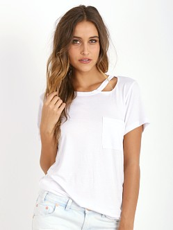 LNA Clothing Twin Palms Tee White