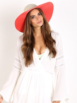 Sol A Mer Marina Reversible Hat Ivory/Coral