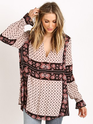 Free People Changing Times Printed Blouse Tea