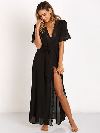 Stone Cold Fox Leo Robe Black
