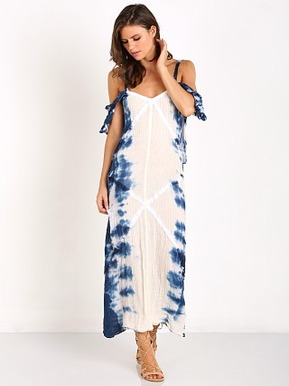 Jen's Pirate Booty Lyra Maxi Dress Naural/Hot Blue Hed
