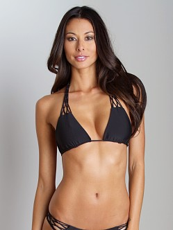 Mikoh Coconuts Crochet Triangle Bikini Top Night