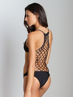 Mikoh Xavier Crochet One Piece Bathing Suit Night