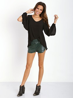 Lovers + Friends Soccer Shorts Evergreen Crocodile