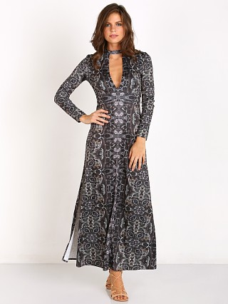 Free People Cabaret Long Sleeve Maxi Dress Dark Combo