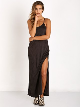 Free People She Moves Maxi Slip Black