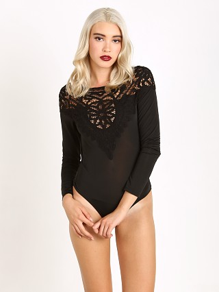 For Love & Lemons Penelope Bodysuit Black