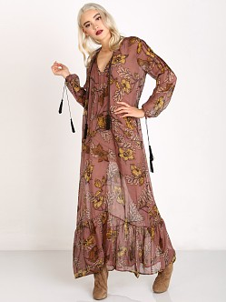 For Love & Lemons Santa Rosa Maxi Dress Golden Floral