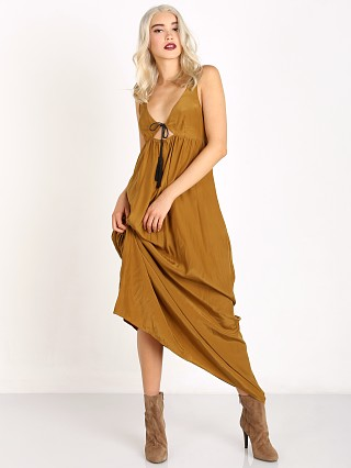 For Love & Lemons Monterey Maxi Dress Old Gold