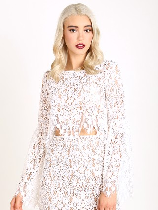 For Love & Lemons Vika Crop Top Ivory