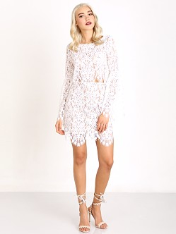 For Love & Lemons Vika Mini Skirt Ivory