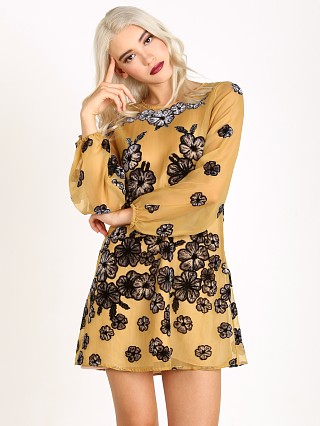 For Love & Lemons Sierra Mini Dress Mustard