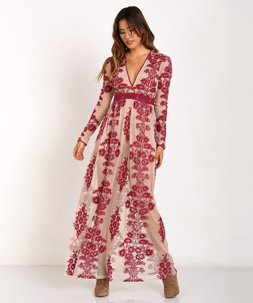 20d52c8a0a For Love   Lemons Temecula Maxi Dress Wine F1376EM - Free Shipping at Largo  Drive
