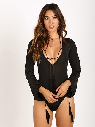 For Love & Lemons Kate Bodysuit Black