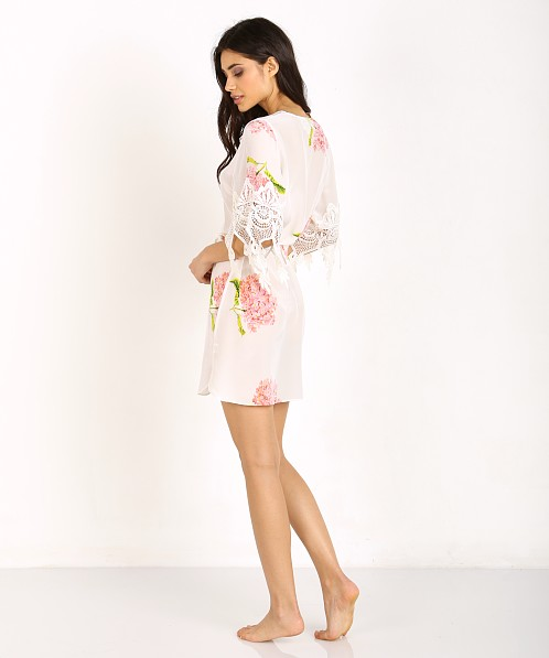 Stone Cold Fox Robe Bloom Print