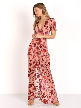 For Love & Lemons Saffron Maxi Dress Sunset Floral