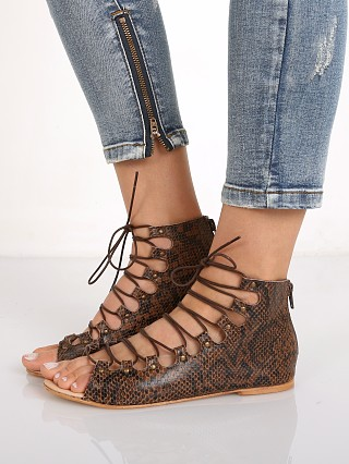 Matisse Farrel Lace Up Flat Brown