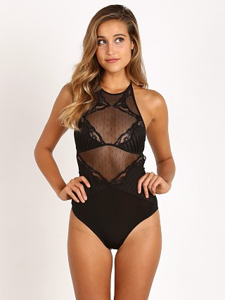 Thistle & Spire Mixed Lace Bodysuit Black