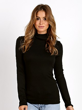 Splendid Long Sleeve Turtleneck Top Black