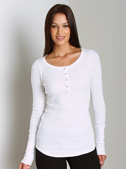 Splendid Thermal Henley White