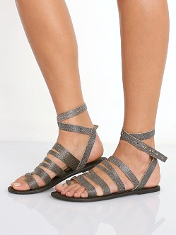 Free People Sunever Sandal Washed Black