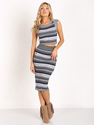 Free People Letters to my Lover Midi Set Grey Combo