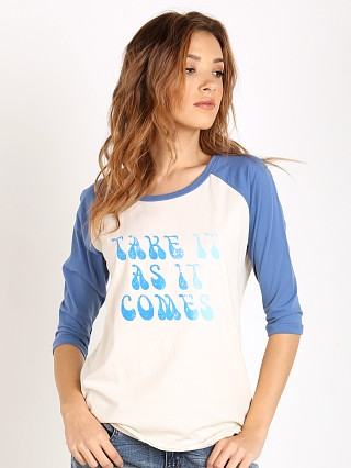 MATE the Label Billie Tee As It Comes White with Cobalt