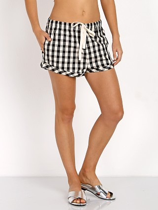 Solid & Striped The Draw String Short Black & Cream Gingham