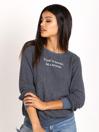 WILDFOX Downie Baggy Beach Jumper After Midnight Blues