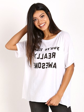 WILDFOX Really Awesome Lousie Shirt Clean White