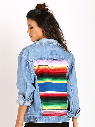 Gull + Marie Denim Jacket Blue Serape