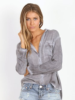 Bella Dahl Seams Back Shirt Gunmetal