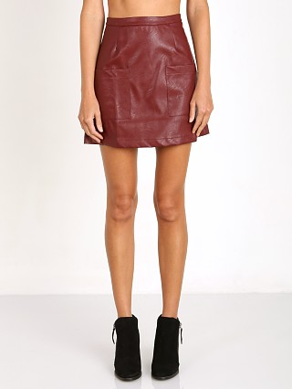 MinkPink Sugar Coat Skirt Oxblood Red