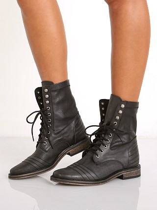 Free People Sounder Lace Up Boot Black
