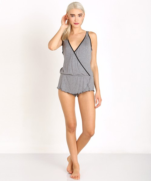 Beach Bunny Love Haus Barely There Romper Charcoal/Black