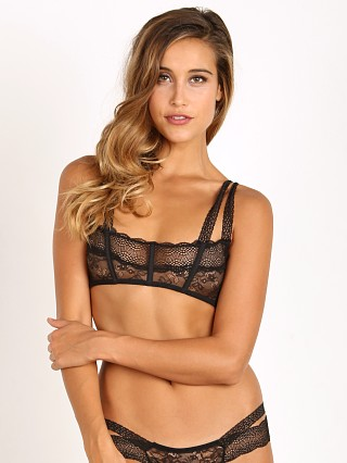 Beach Bunny Love Haus Impulse Lace Bralette Black