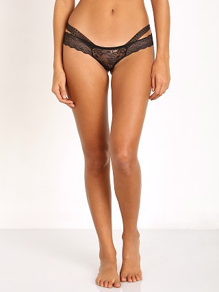 Beach Bunny Love Haus Impulse Lace Thong Black