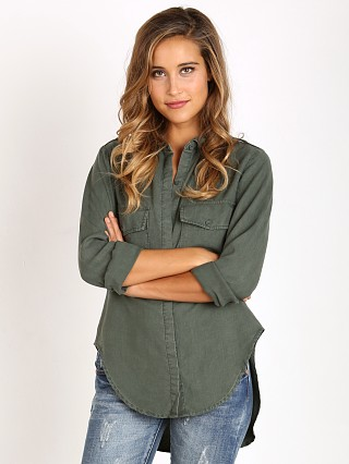 Bella Dahl Flap Pocket Button Down Frosted Pine
